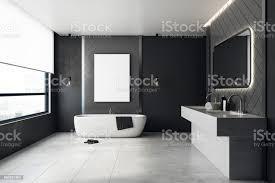 moderne badezimmer mit leeren banner stockfoto und mehr bilder architektur