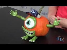 Mike Wazowski Pumpkin Carving Patterns by Mike Wazowski Pumpkin Push Ins From Gemmy Industries Youtube