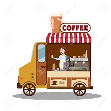100 Orange Truck Shop Street Food Van Fast Food Delivery Coffee Van