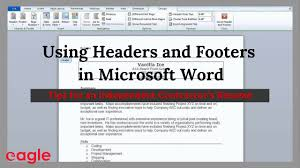 Using The Word I In A Resume by Ms Word Tip Using Headers And Footers In Your Resume