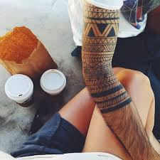 Samoan Adapted Sleeve Tribal Tattoo