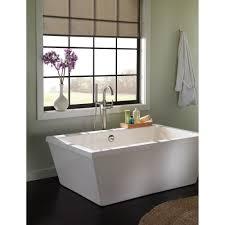 Delta Trinsic Bathroom Faucet by Delta Faucet T4759 Blfl Trinsic Matte Black Freestanding Tub Only