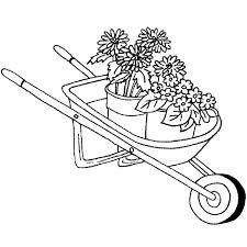 G 879 Wheelbarrow with Flowers