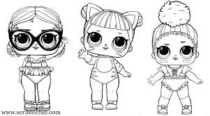 Dolls Coloring Pages Free Printable Lol Series 3 Unicorn Surprise