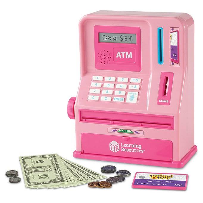 Learning Resources Pretend & Play Teaching ATM Bank - Pink