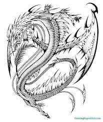 Chinese Dragon Coloring Pages To Print Simple Free Printable Head