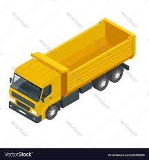 100 Demolition Truck Isometric A Dump Truck Dumper Tipper Truck Vector Image
