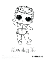 Surprise Coloring Pages Sleeping Doll Page Sisters Lol Unicorn