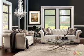 Transitional Living Room Furniture Sets by Zonka Tufted Leather Sofa Set Modern Living Room Luxurious