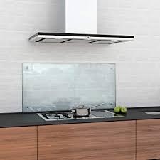 glasshop24 spritzschutz küche glas küchenrückwand glas spritzschutz herd glas platte wand küchenwand glasrückwand klarglas 40 x 80 cm inkl