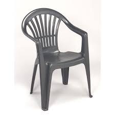 chaise jardin plastique lot 12 fauteuils jardin plastique gris empilables tiny achat