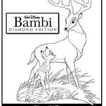 Bambi Playing With His Father Coloring Page