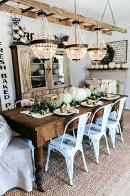 Farm Style Dining Room Table Harvest In An Elegant Farmhouse Home Bunch