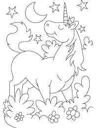 Cartoon Unicorn Coloring Pages