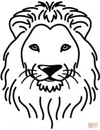 Lion Portrait Coloring Page Printable Pages Click The To King Pictures Color Animal