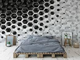 fototapete vlies 3d schwarz weiß modern schlafzimmer