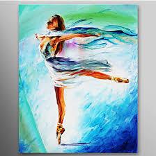 The Girl Dance Ballet Dancer Oil Painting Wall Art Modern Canvas Decor