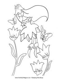 Spring Fairy Colouring Page