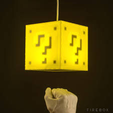 Mario Question Mark Block Hanging Lamp by Mario Question Block Lamp Instalamp Us