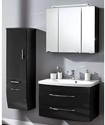 lomado badezimmer set 3 teilig hochglanz anthrazit