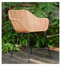 casa moro stuhl rattan sessel barcelona mit armlehne aus naturrattan handgeflochten premium qualität korb stuhl korb sessel vintage retro stuhl