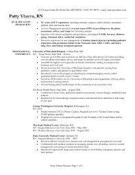 Resume Template For Registered Nurse Tomyumtumweb Templates