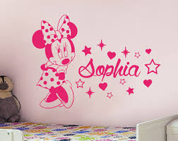 Minnie Mouse Bedroom Accessories Ireland by Minnie Mouse Decal Etsy