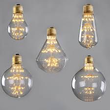dimmable st58 a19 g95 edison bulb filament led firework light