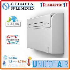 climatiseur sans unité extérieure unico air intégré 8sf et 8hp