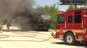 100 Local Truck Driving Jobs Jacksonville Fl Garbage Truck Erupts In Flames On I95 NB In