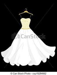 Clip Art Vector Wedding Dress White Wedding Dress The Hanger 1648