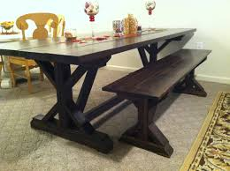 Farm Table 400 Rustic Solid Pedestal Base Dark Stain