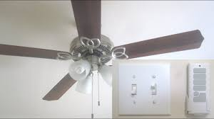 Harbor Breeze Ceiling Fan Remote Codes by Install Remote Control For Ceiling Fan With Light Youtube