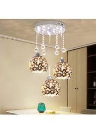 moderne 3 lichter kristall pendelleuchte beleuchtung