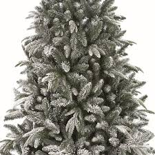 8ft Flocked Lapland Spruce Christmas Tree Zoom Click