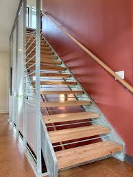 Interior Installing New Stairs Space Place House Of Stair Along Photos Hgtv Contemporary Staircase With Red