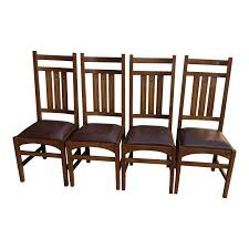 Stickley Mission Oak Dining Chairs - Set Of 4 Antique Arts Crafts Mission Youth High Chair Original Local Pick Up Mission Oak Library Table Desk 42 12 Across 26 Deep 30 Pressed Back 39 At 18 To Seat Victgeorgian Childs Metamorphic A Set Of Four Style Oak High Back Ding Chairs Mode 3 Ways To Increase The Height Ding Chairs Wikihow Vintage Arts And Crafts Or Mission Plant Stand Style Oak Tv Stands The Fniture Shop Stow Leaf Set Dark Bow Arm Morris Brown Cherry Tags Maple Big Armchair Pair In Charles Rohlfs