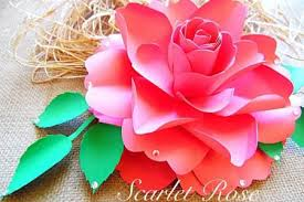 Make Gorgeous Paper Roses With This Free Rose Template It S Learn How To These Beautiful Step By DIY