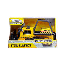 Amazon.com: Tonka 92961 Steel Bulldozer Vehicle, Yellow: Toys & Games