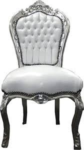 casa padrino barock esszimmer stuhl weiß silber möbel
