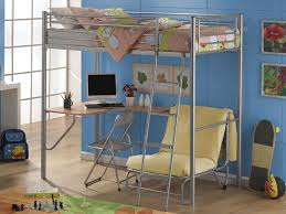 loft bed with couch and desk to save space in the bedroom modern