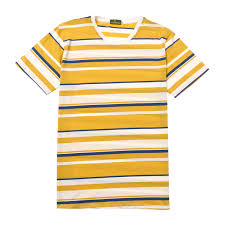 100 Coco Republic Sale Mens Pastel Striped Tee In Yellow