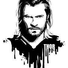 Avengers in Ink Thor by loominosity on DeviantArt