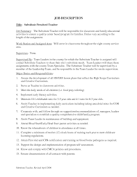 Substitute Teacher Job Description For Resume / Sales ... Awesome Teacher Job Description Resume Atclgrain Sample For Teaching With Noence Assistant Rumes 30 Examples For A 12 Toddler Letter Substitute Sales 170060 Inspirational Good Valid 24 First Year Create Professional Cover Example Writing Tips Assistant Lewesmr Duties Of Preschool Lovely 10