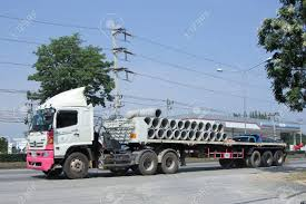 100 26 Truck CHIANGMAI THAILAND OCTOBER 2015 For Concrete Pipe