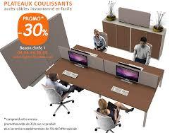 lignes bureau bureau open space plateau coulissant atao bench pour 4 personnes
