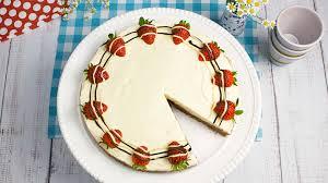 schoko frischkäse torte mit erdbeeren