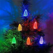 Replacement Christmas Tree Light Bulbs Volt Led Diamond Faceted 8 Lights Bulb String 25 Facet
