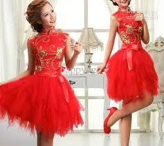 New Red Retro Short Cheongsam Ball Gown Kneel Length Zipper Wedding Dress Bridesmaid Costumes Party Uniform Prom Cheap Purple Dresses