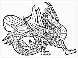 Elegant Free Realistic Dragon Coloring Pages Has